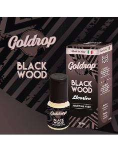Black Wood di Goldrop Liquido Pronto da 10ml Aroma Liquirizia