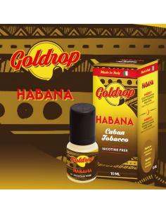 Habana di Goldrop Liquido Pronto da 10ml Aroma Tabaccoso