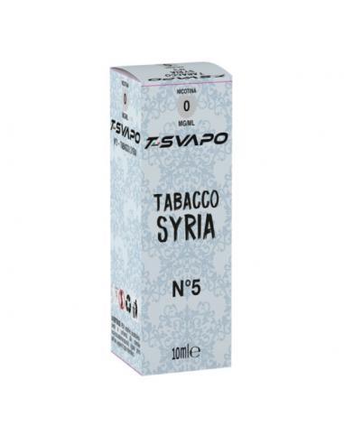 Tabacco Syria N°5 Liquido Pronto T-Svapo by T-Star da 10ml