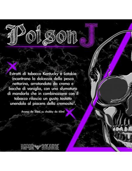 Poison J Liquido Scomposto Vapor Bagarre 20 ml Aroma Tabaccoso