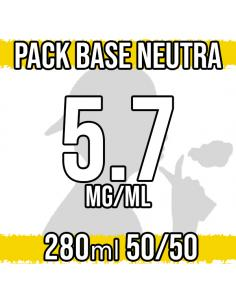 Pack Base Neutra 280ml 50VG/50PG 5.7mg/ml Nicotina