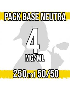 Pack Base Neutra 250ml 50VG/50PG 4mg/ml Nicotina