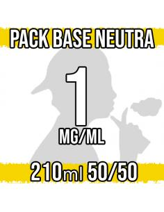 Pack Base Neutra 210ml 50VG/50PG 1mg/ml Nicotina