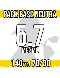 Pack Base Neutra 140ml 70VG/30PG a 5.7 mg/ml Nicotina
