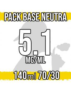 Pack Base Neutra 140ml 70VG/30PG a 5.1 mg/ml Nicotina