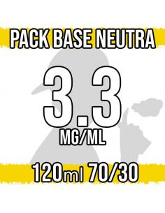 Pack Base Neutra 120ml 70VG/30PG a 3.3 mg/ml Nicotina
