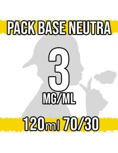 Pack Base Neutra 120ml 70VG/30PG a 3 mg/ml Nicotina