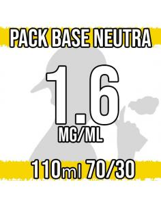 Pack Base Neutra 110ml 70VG/30PG a 1.6 mg/ml Nicotina