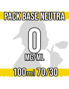 Pack Base Neutra 100ml 70VG/30PG a 0 mg/ml Nicotina