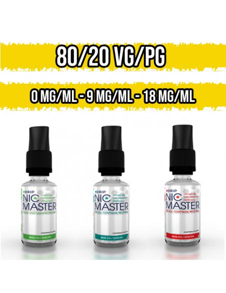 Nicotina in Base Neutra 80VG / 20PG 10 ml Nic Master