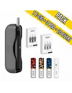 Kiwi Vapor + Confezione 3 Pod ricambio + 20 Filtri Soft Tip