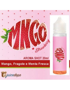 MNGO Strawberry Aroma Scomposto Ejuice Depo 20ml