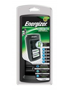 Energizer Universal Charger - Caricabatterie Universale con Display LED